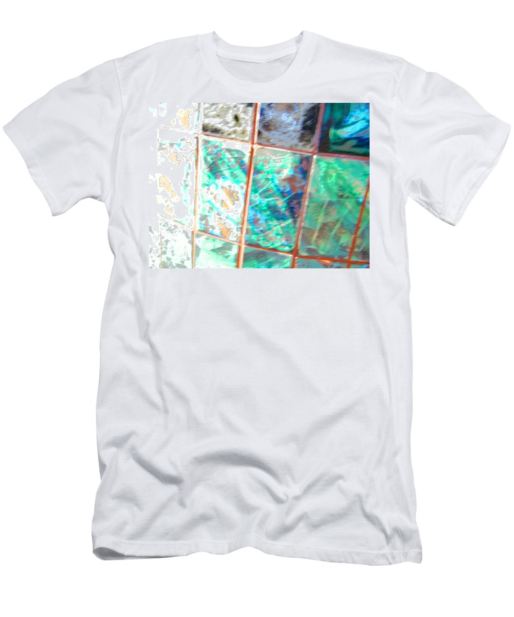Abstract Men's T-Shirt (Athletic Fit) featuring the photograph Reflections In Time by Lenore Senior