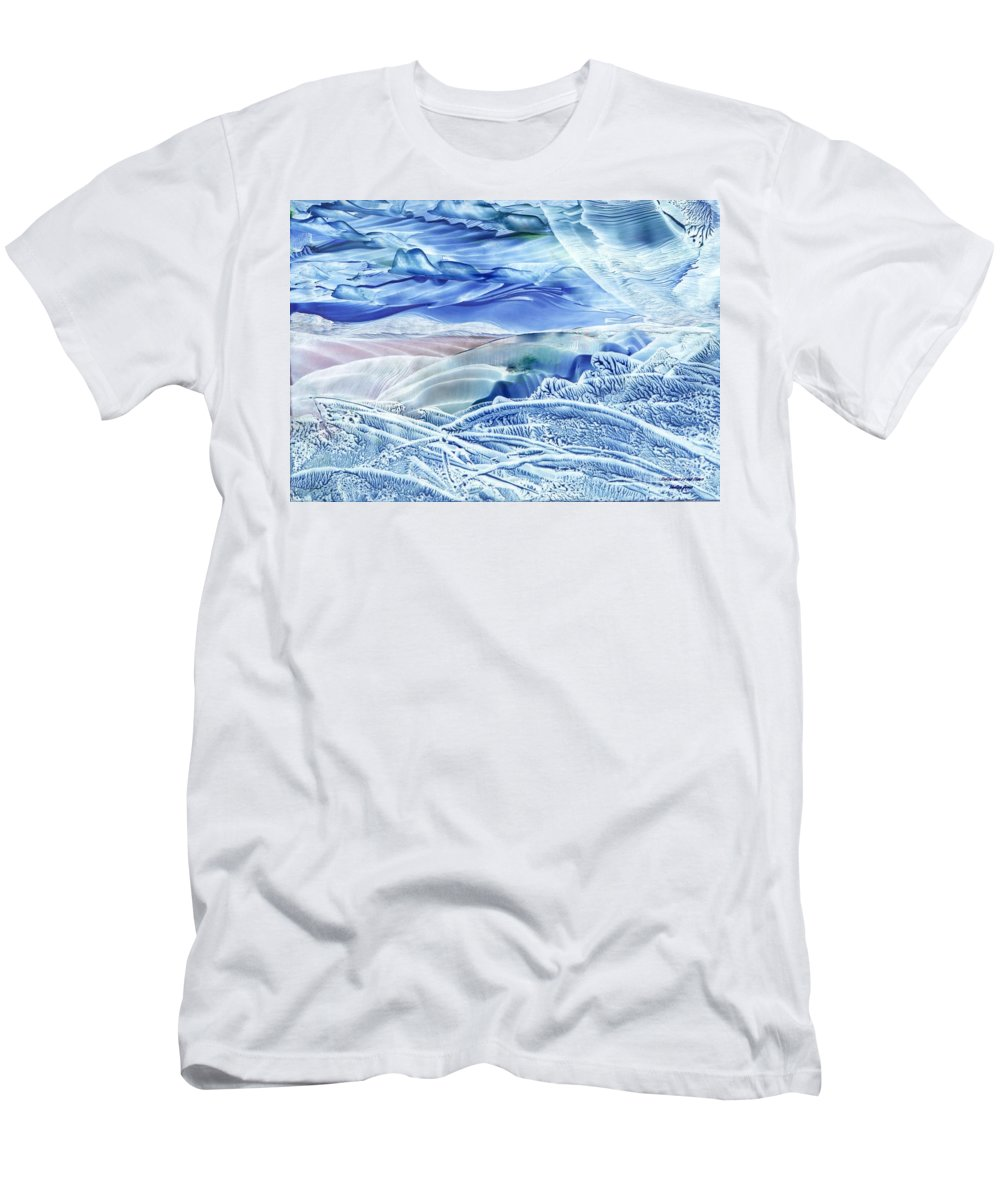 Wax Men's T-Shirt (Athletic Fit) featuring the painting Reflections Of The Moon by Shelley Jones