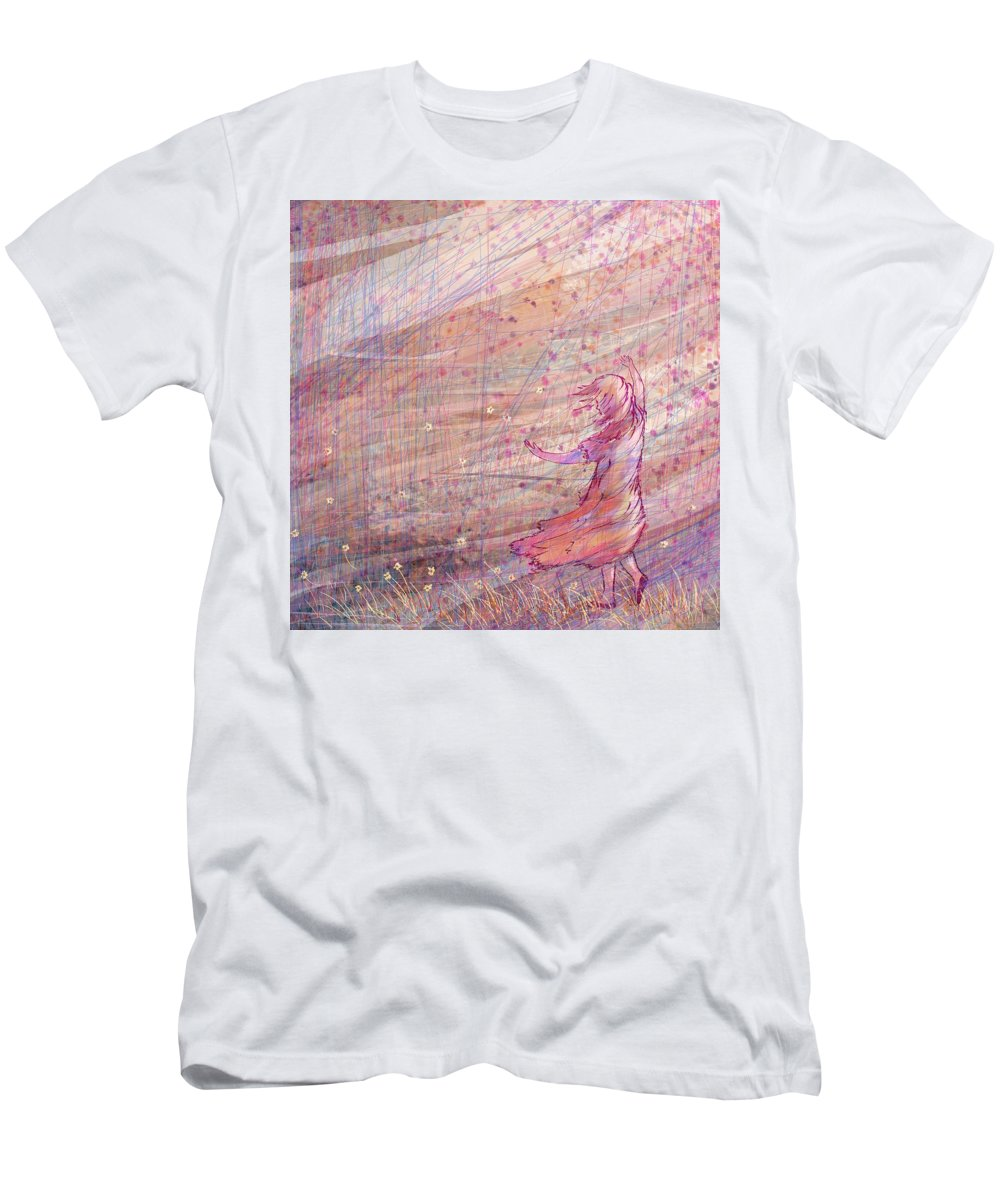 Abstract T-Shirt featuring the digital art Releasing The Daisies by William Russell Nowicki
