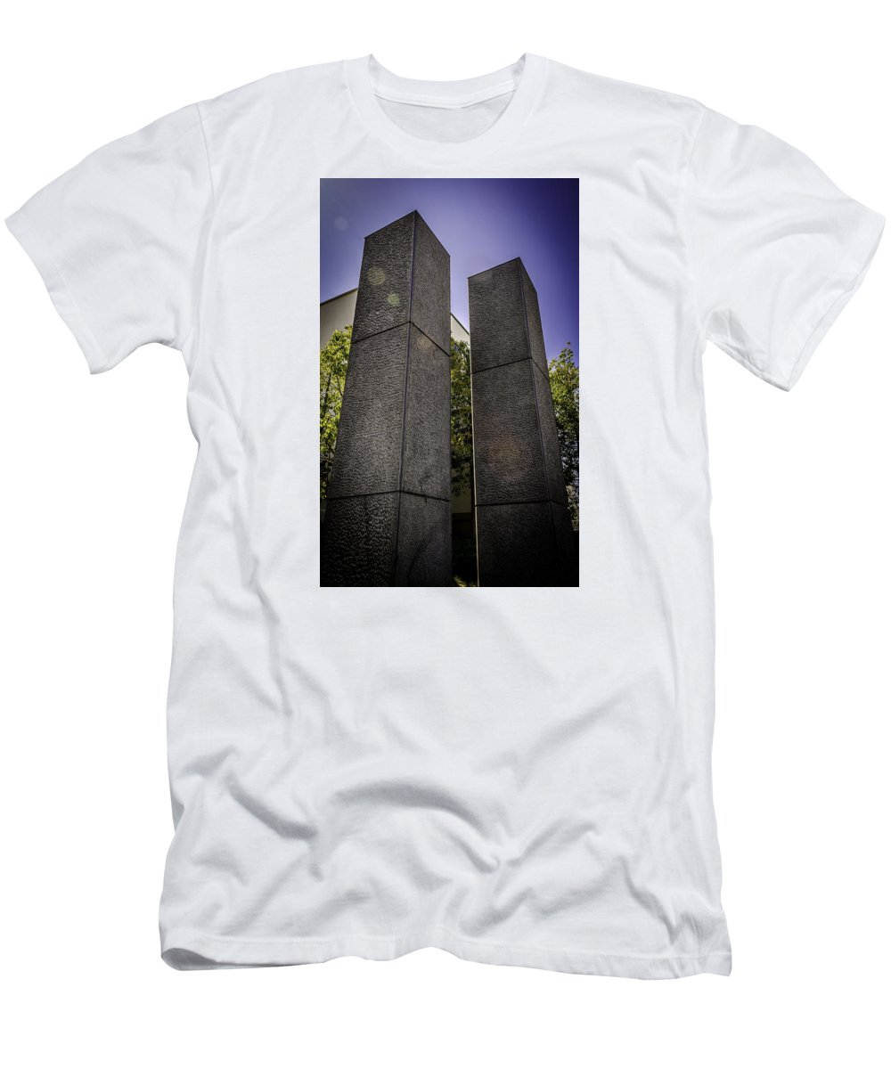 Beverly Men's T-Shirt (Athletic Fit) featuring the photograph Remembering The Twins by Vincent Asbjornsen