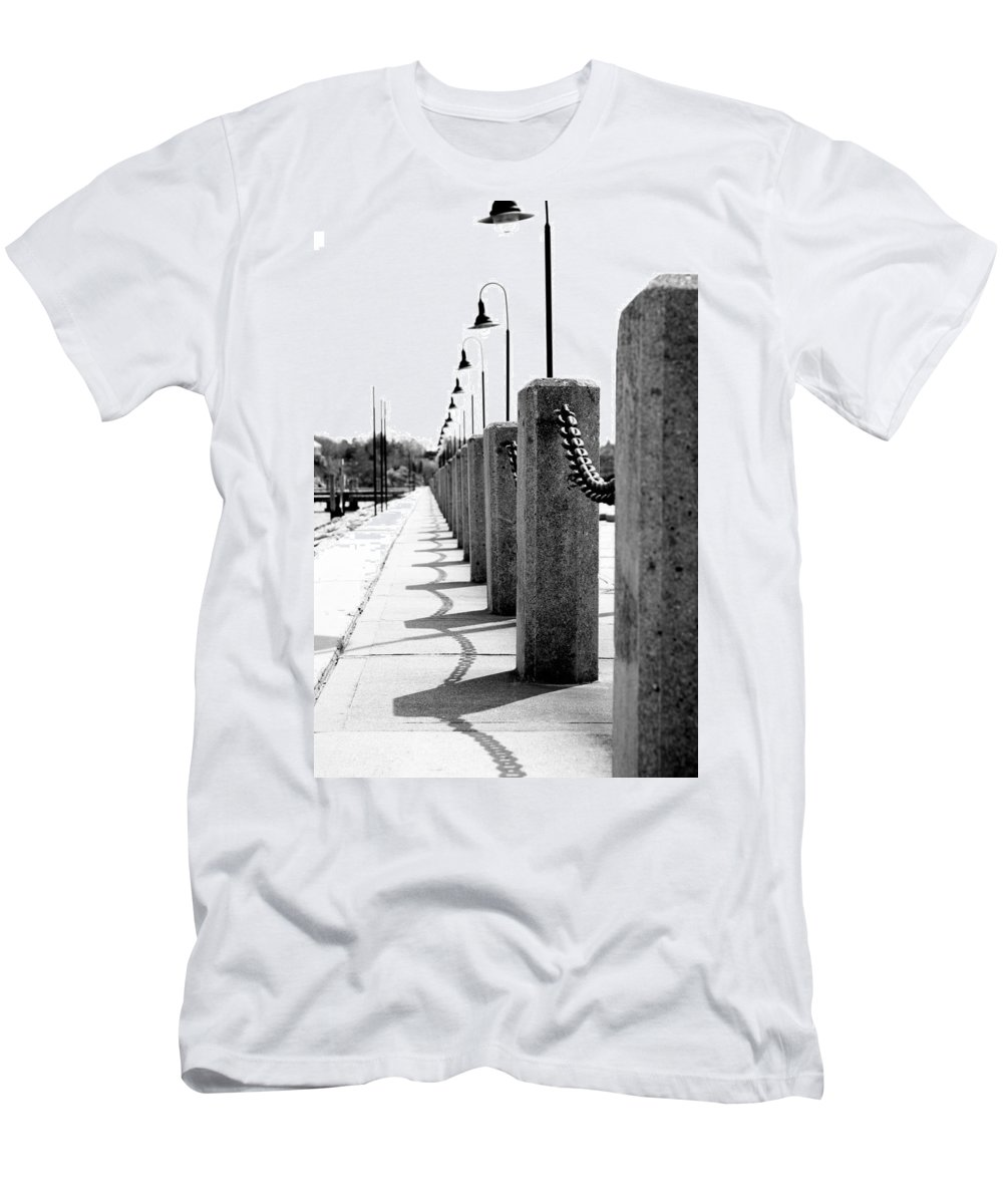 Posts Men's T-Shirt (Athletic Fit) featuring the photograph Repetition by Greg Fortier