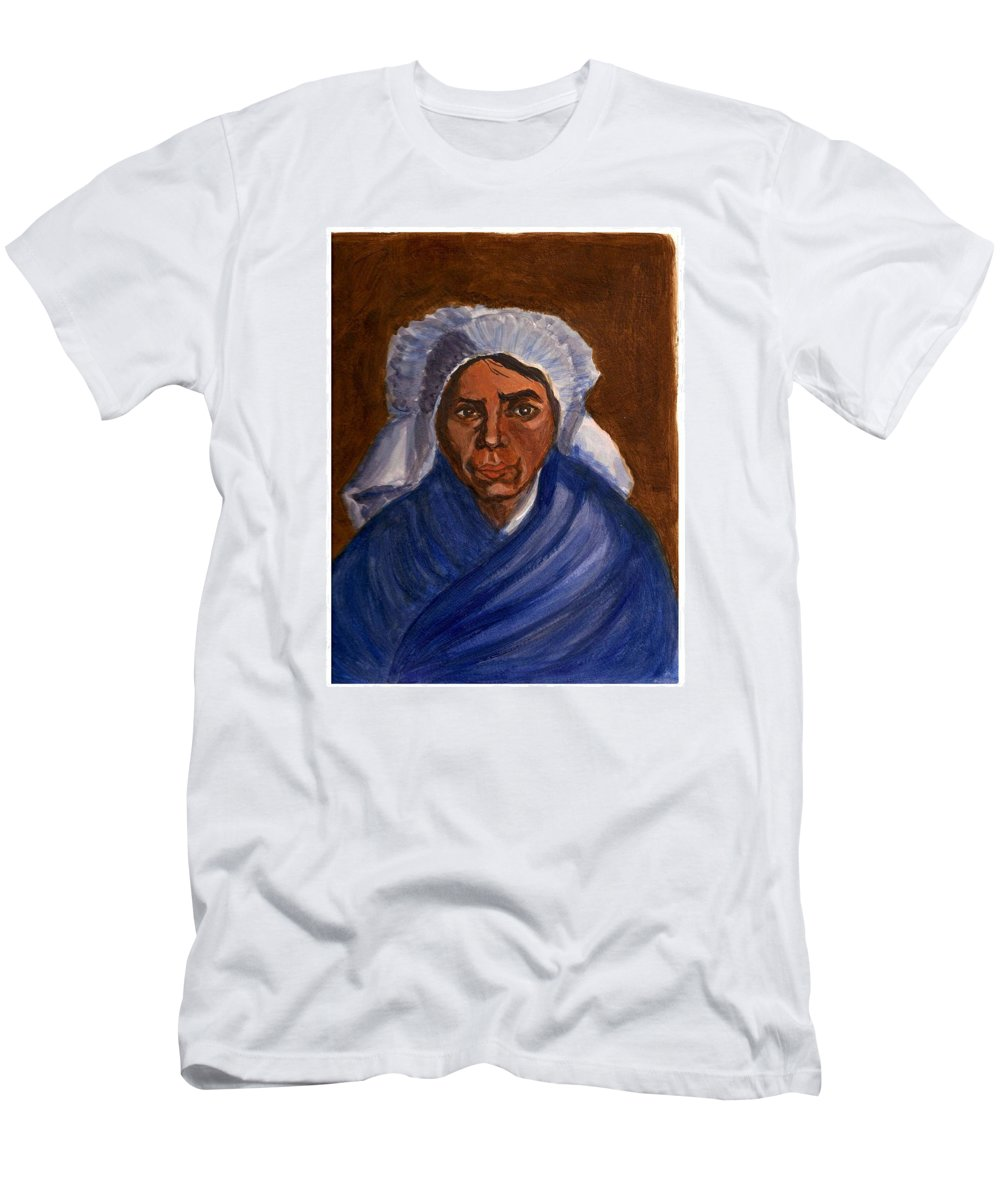 Peasant Woman By Van Gogh Reproduced Men's T-Shirt (Athletic Fit) featuring the painting Reproduction Of Van Gogh by Asha Sudhaker Shenoy
