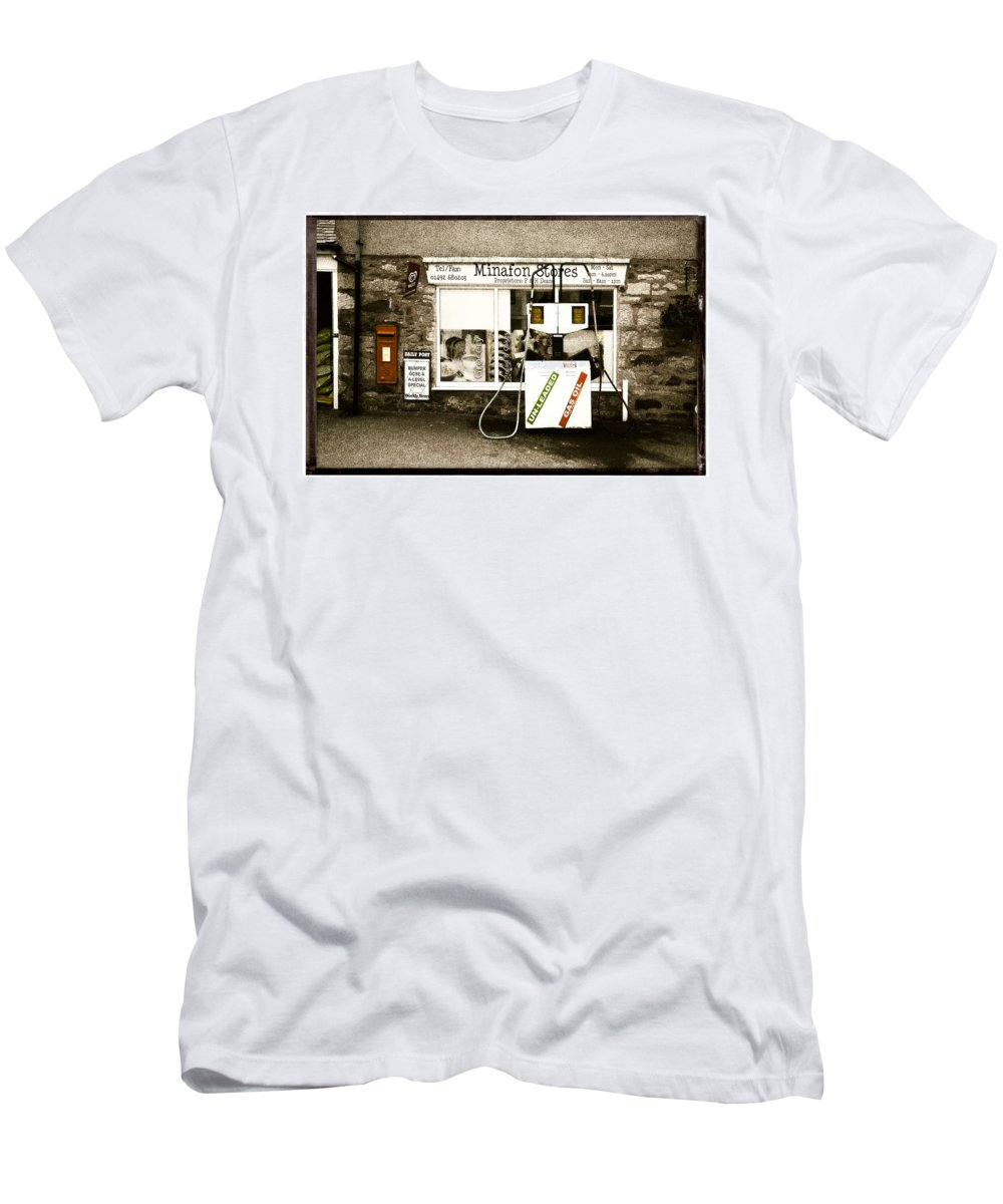 Store Men's T-Shirt (Athletic Fit) featuring the photograph Resist Change - Village Shop Part1 by Mal Bray