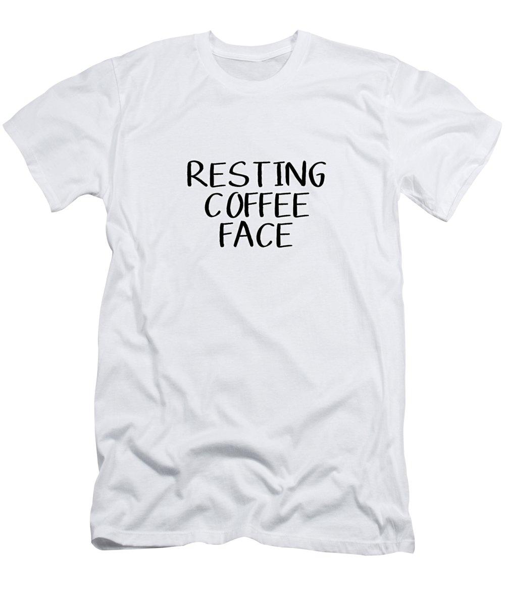 Coffee T-Shirt featuring the digital art Resting Coffee Face-Art by Linda Woods by Linda Woods