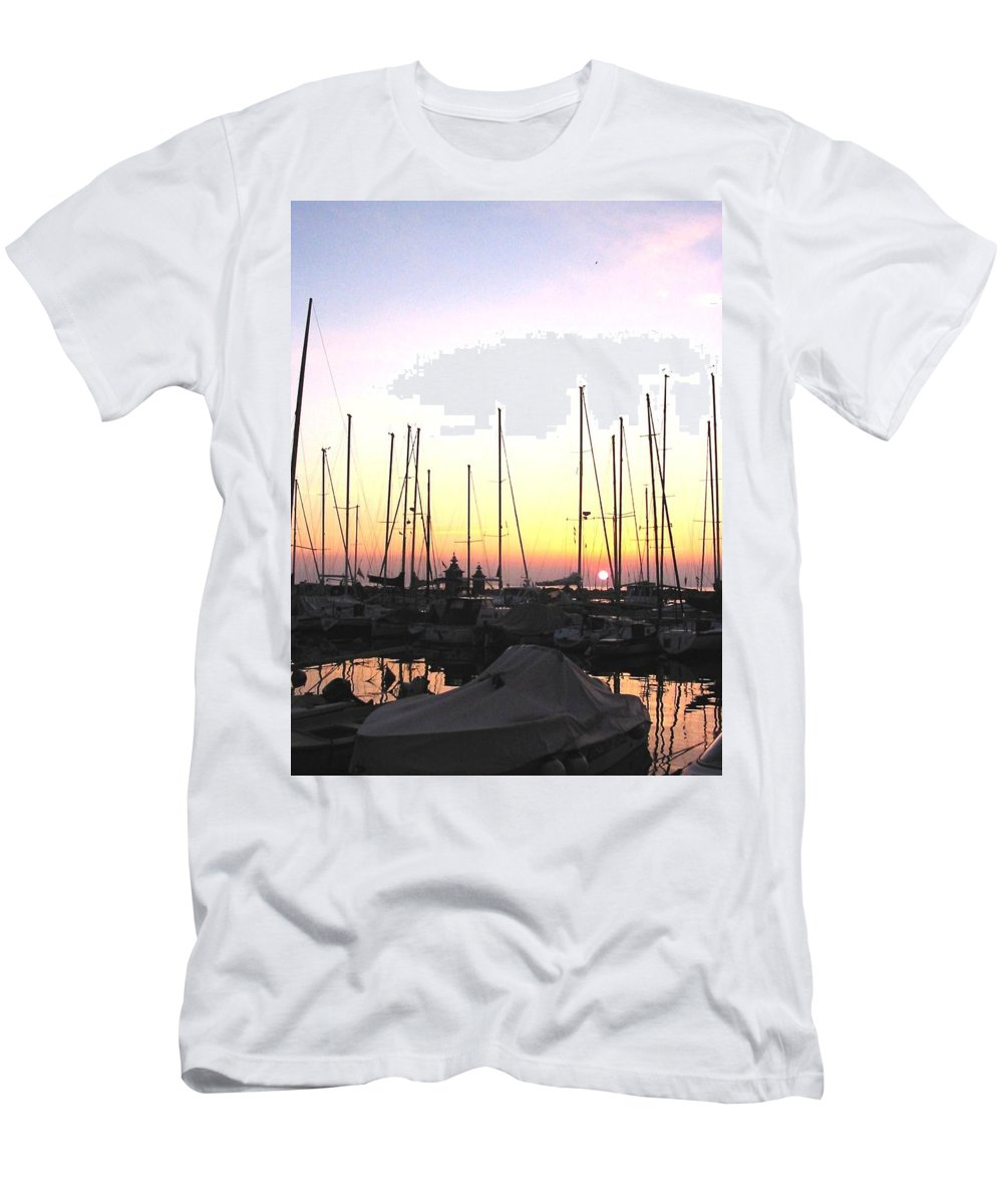 Sea Men's T-Shirt (Athletic Fit) featuring the photograph Resting Place by Dragica Micki Fortuna