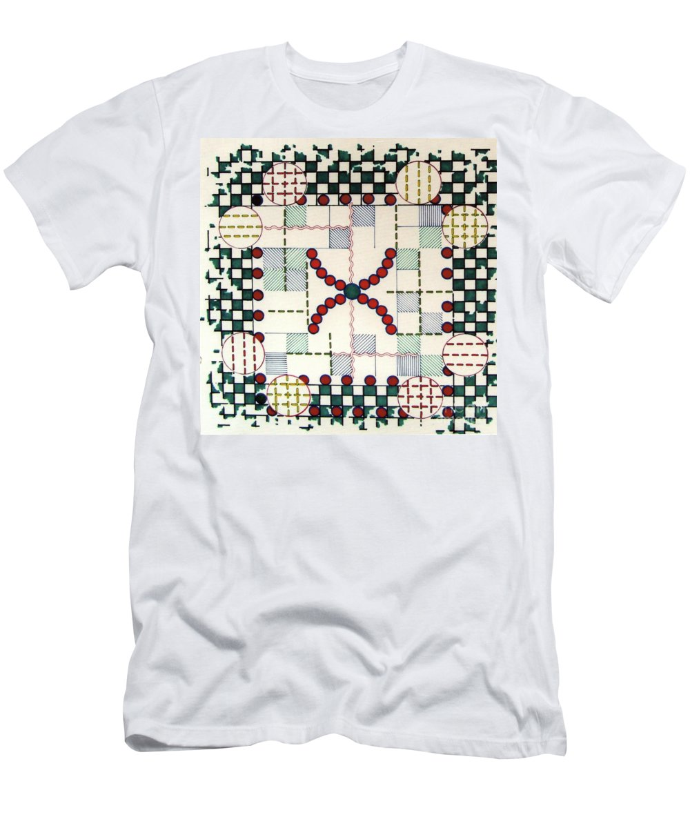 Festive Christmas Men's T-Shirt (Athletic Fit) featuring the drawing Rfb0563 by Robert F Battles