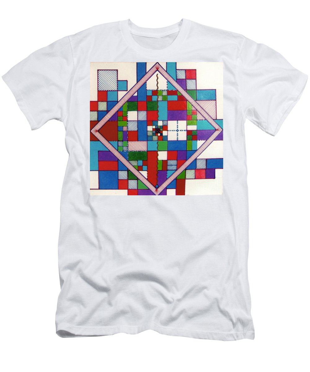 Angled Men's T-Shirt (Athletic Fit) featuring the drawing Rfb0574 by Robert F Battles