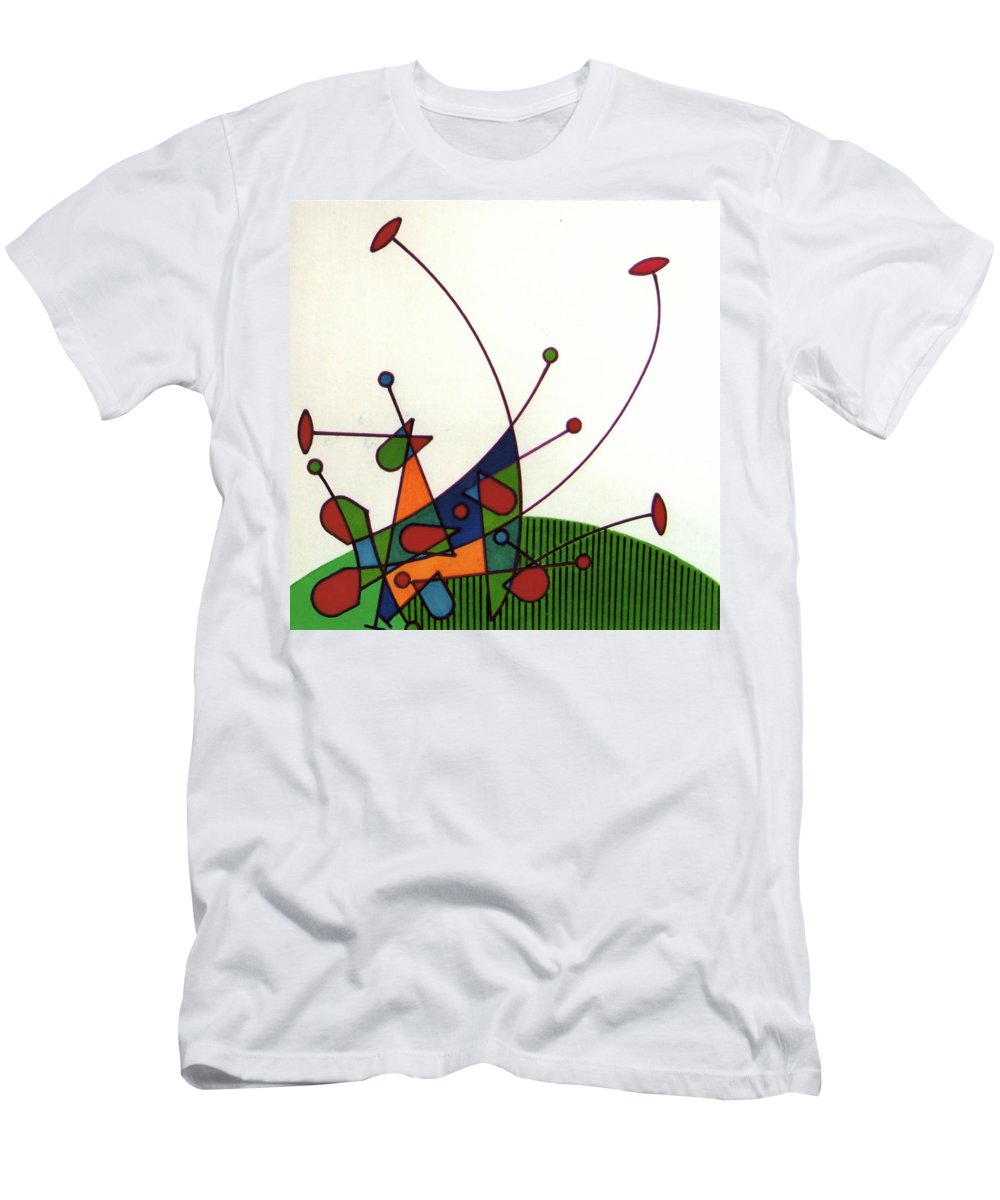 Cricket Men's T-Shirt (Athletic Fit) featuring the drawing Rfb0585 by Robert F Battles