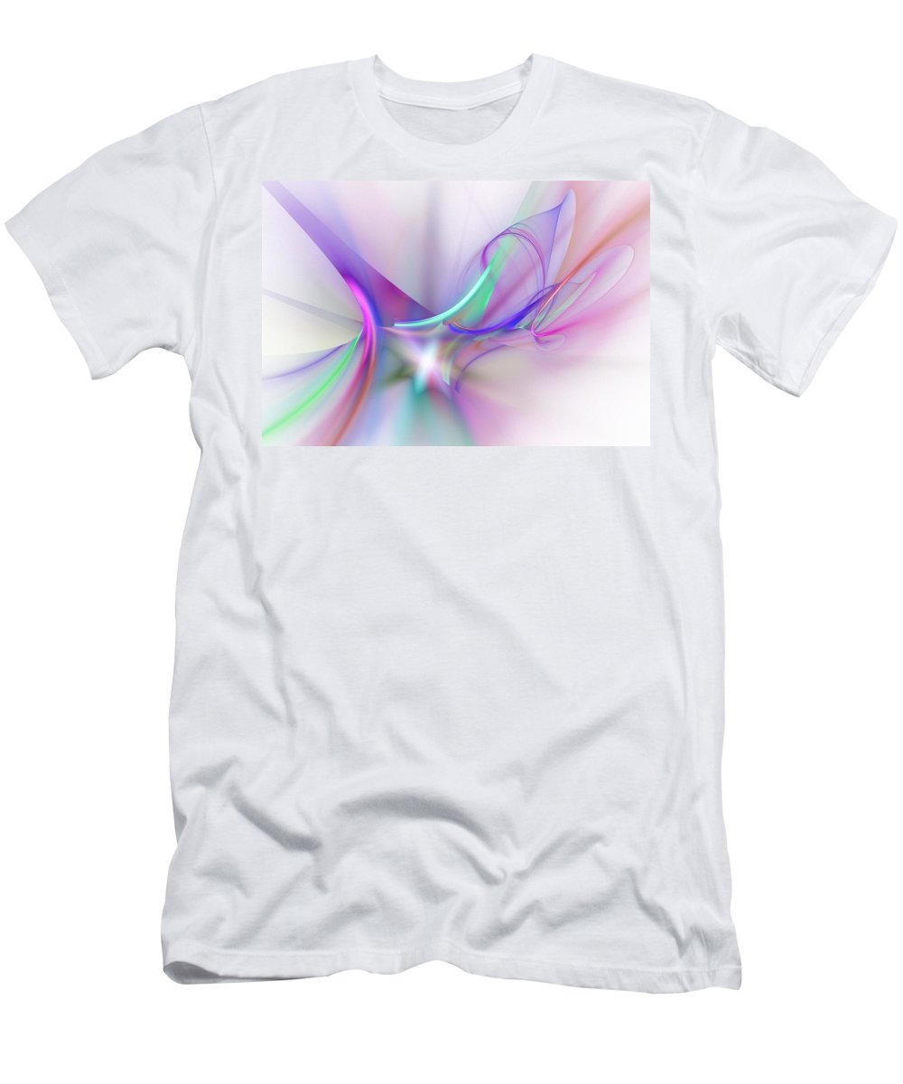 Digital Painting Men's T-Shirt (Athletic Fit) featuring the digital art Rhapsody by David Lane