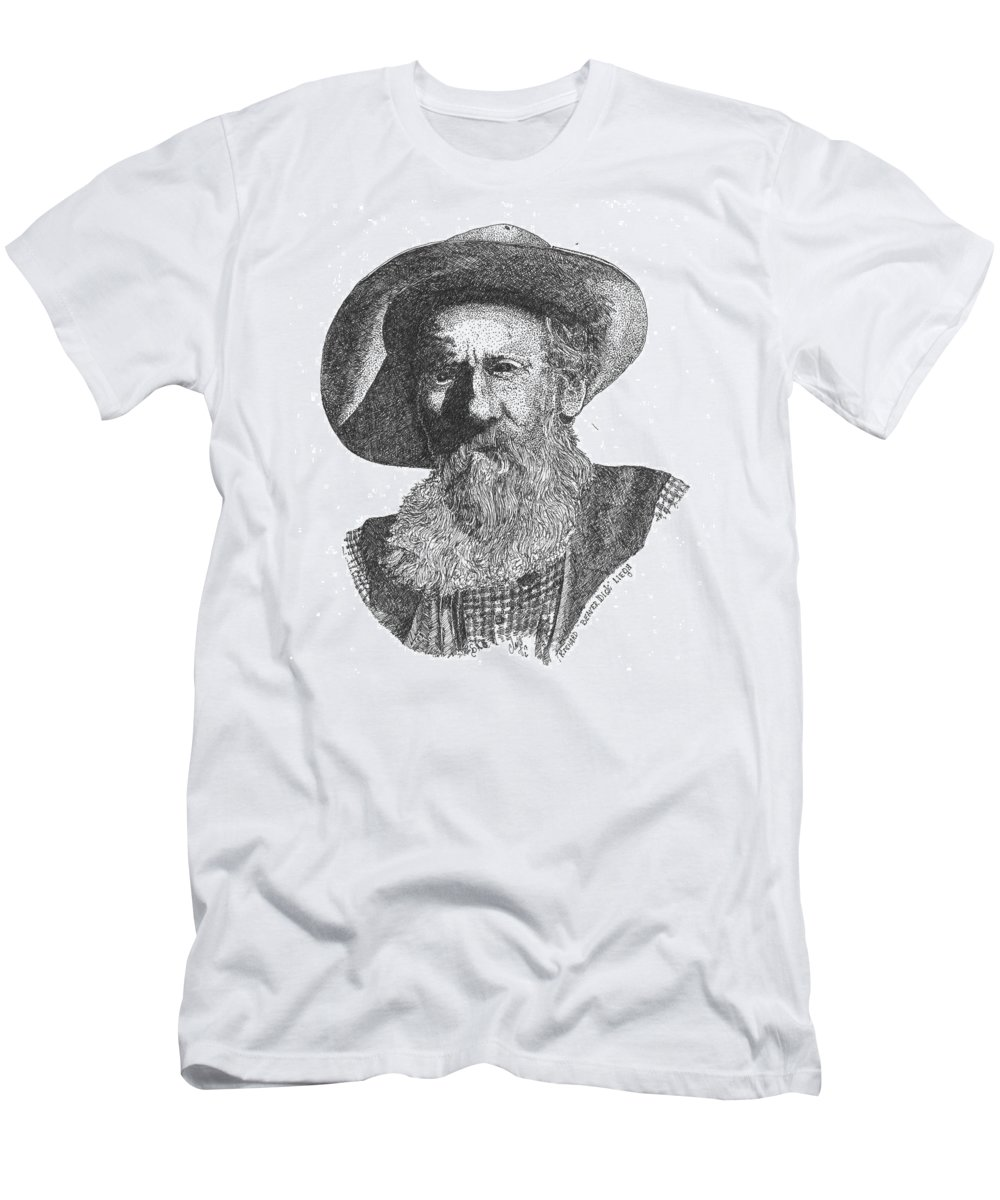 Beaver Dick Liegh Men's T-Shirt (Athletic Fit) featuring the drawing Richard Beaver Dick Liegh by Clayton Cannaday