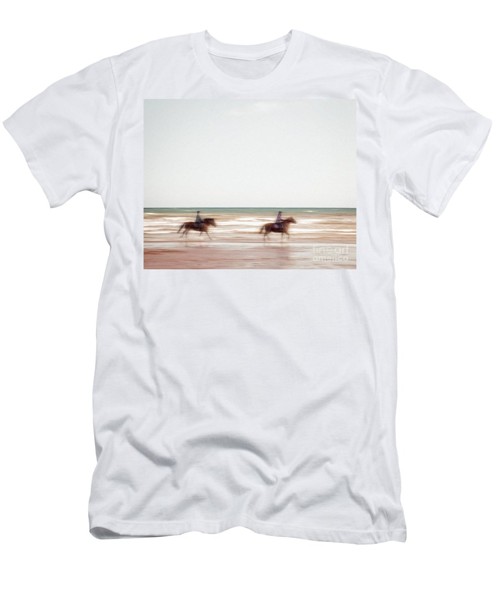 Nag004284 Men's T-Shirt (Athletic Fit) featuring the photograph Riding The Tide by Edmund Nagele
