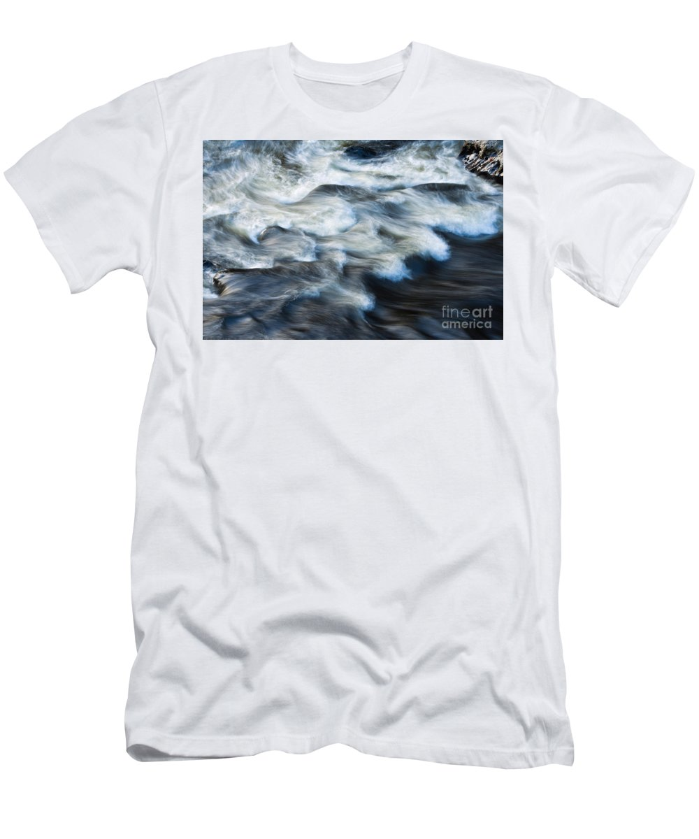 Abstract Men's T-Shirt (Athletic Fit) featuring the photograph River Over Rocks by Bill Brennan - Printscapes