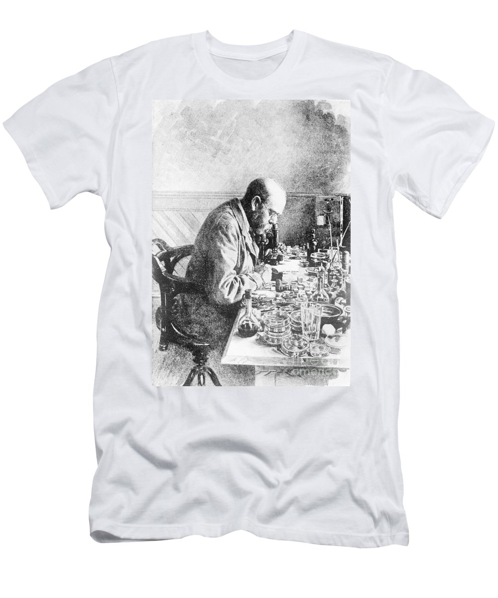 Historic Men's T-Shirt (Athletic Fit) featuring the photograph Robert Koch, German Bacteriologist by Wellcome Images