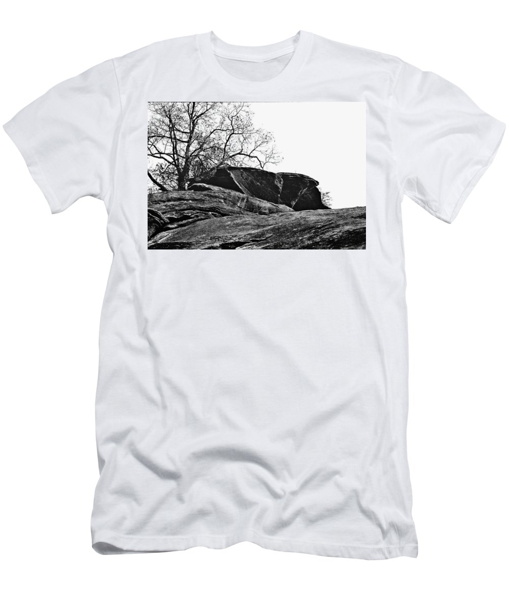 Landscape Men's T-Shirt (Athletic Fit) featuring the photograph Rock Wave by Steve Karol