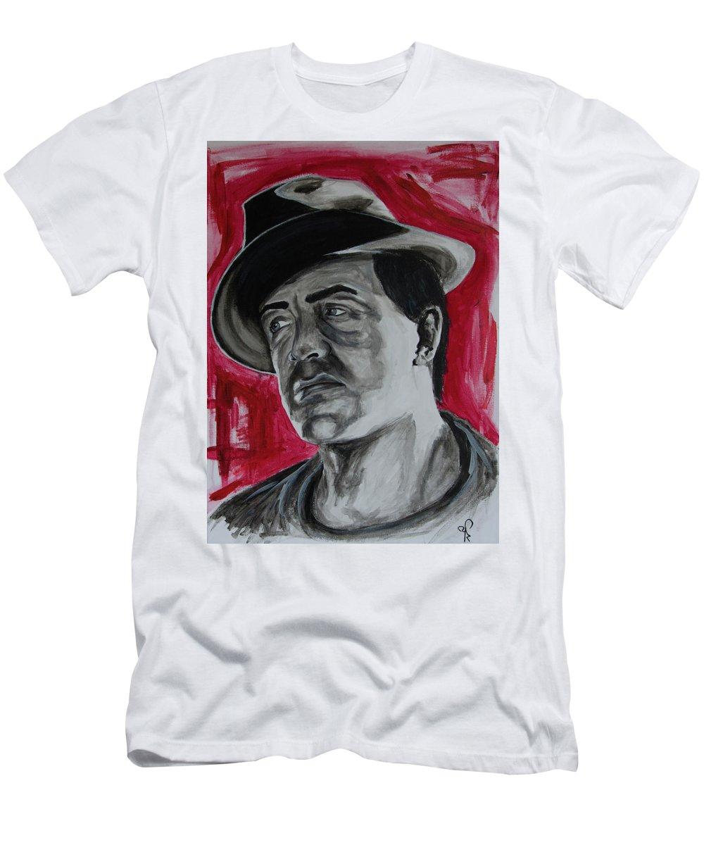 e6b5e062 Rocky Men's T-Shirt (Athletic Fit) featuring the painting Rocky Balboa by  Artistyf