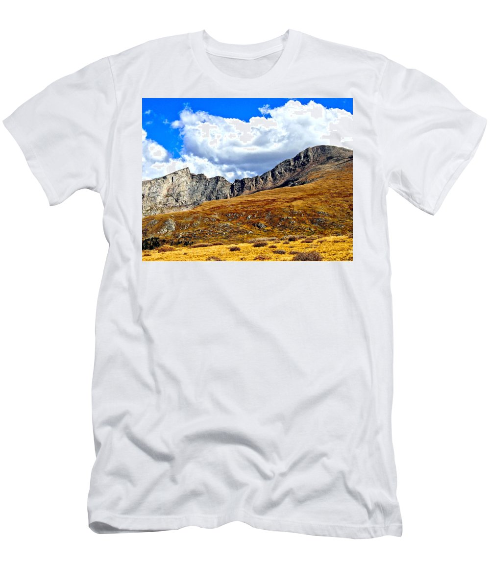 Colorado Men's T-Shirt (Athletic Fit) featuring the photograph Rocky Mountain Ridgeline by Amy McDaniel