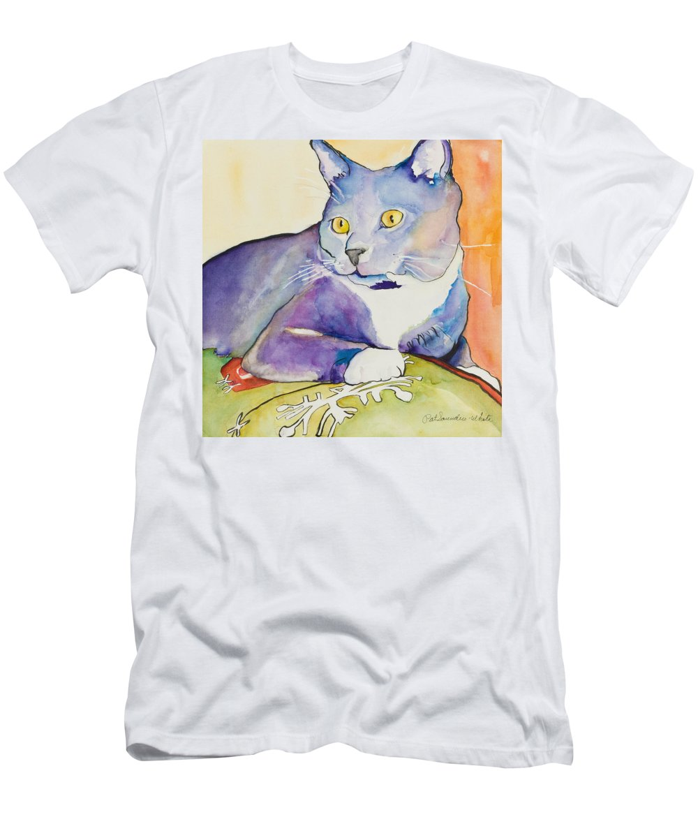Pat Saunders-white Men's T-Shirt (Athletic Fit) featuring the painting Rocky by Pat Saunders-White