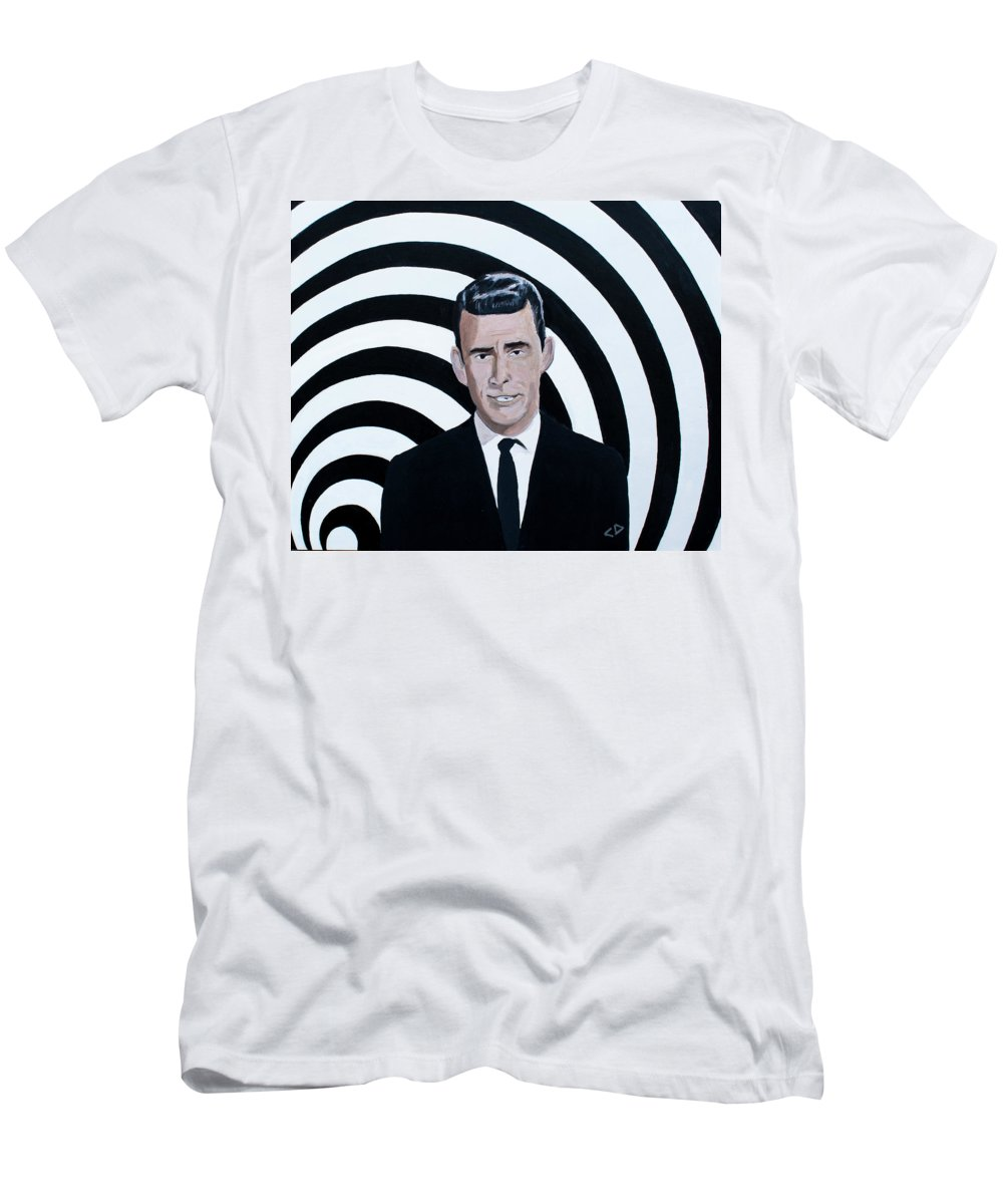 Twilight Zone Mens T Shirt Athletic Fit Featuring The Painting Rod Serling