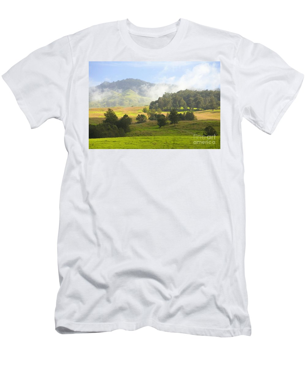 Afternoon Men's T-Shirt (Athletic Fit) featuring the photograph Rolling Green Hills by Ron Dahlquist - Printscapes