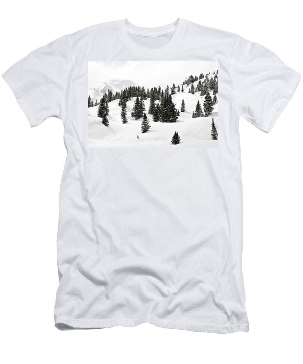 Rolling Hills Men's T-Shirt (Athletic Fit) featuring the photograph Rolling Hills by Marilyn Hunt