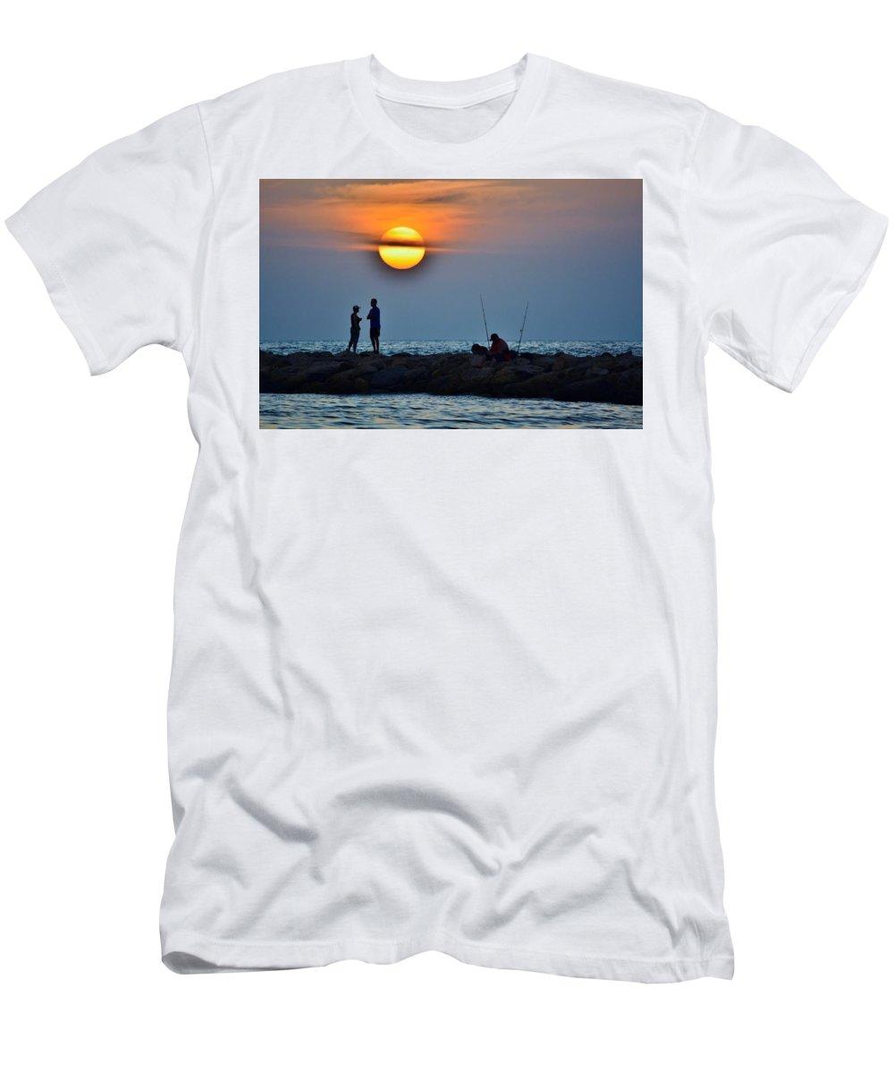 Landscape Men's T-Shirt (Athletic Fit) featuring the photograph Romantic Conflict by Joseph Bruno Pelle