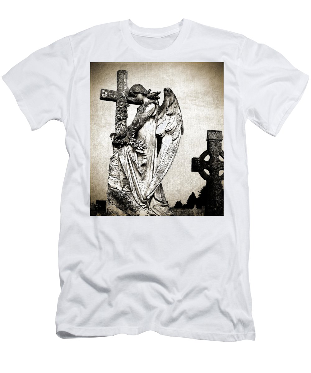 Ireland Men's T-Shirt (Athletic Fit) featuring the photograph Roscommon Angel No 1 by Teresa Mucha
