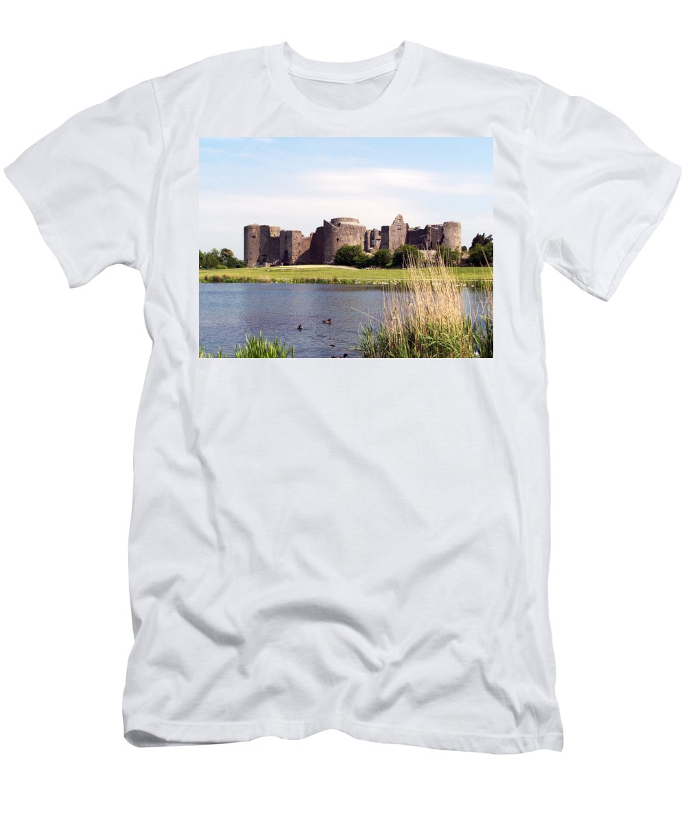 Roscommon Men's T-Shirt (Athletic Fit) featuring the photograph Roscommon Castle Ireland by Teresa Mucha