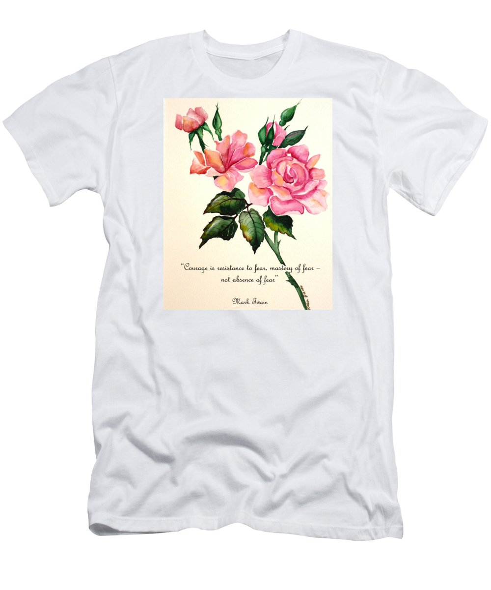 Rose Painting Men's T-Shirt (Athletic Fit) featuring the painting Rose Poem by Karin Dawn Kelshall- Best