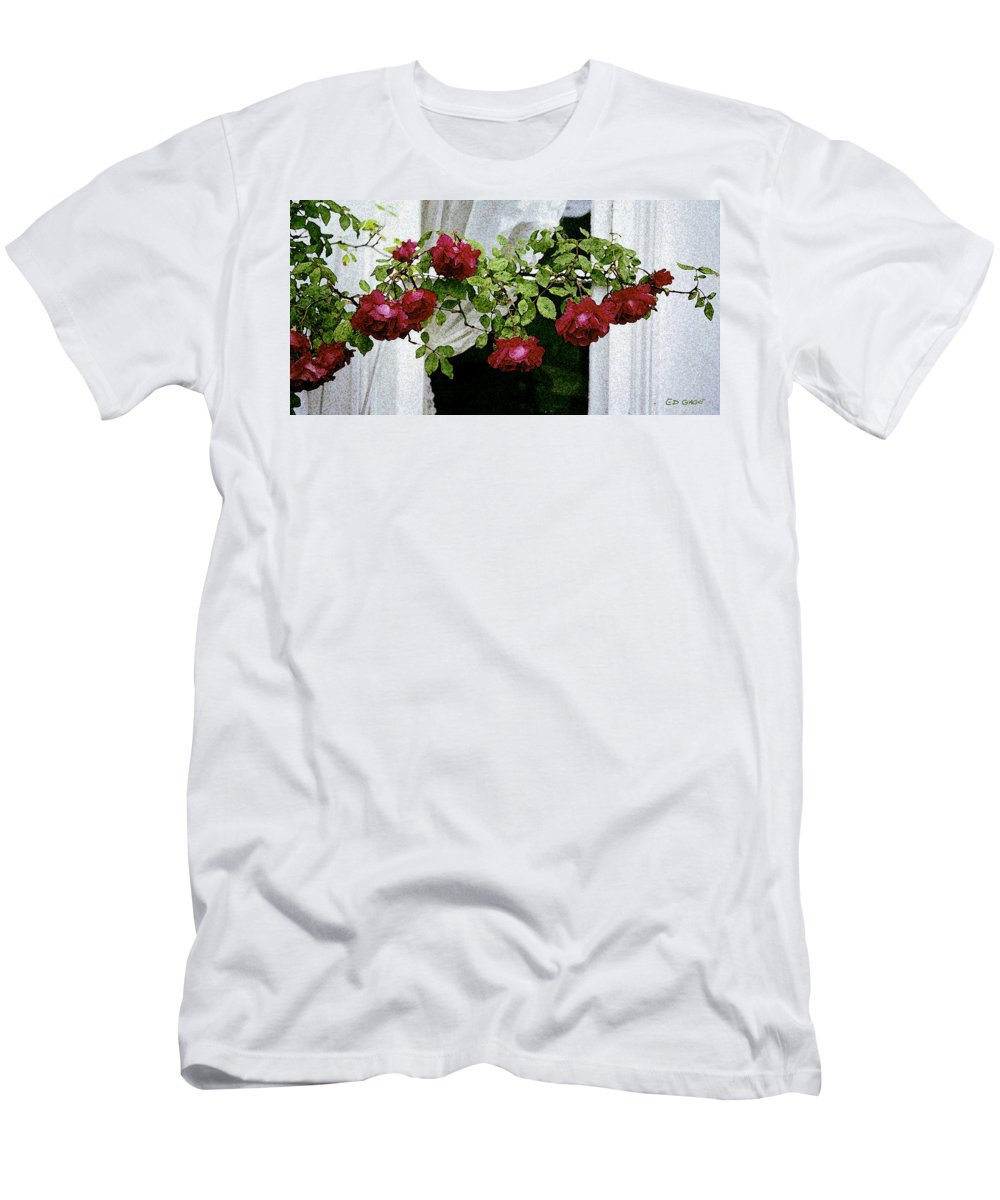 Maine Men's T-Shirt (Athletic Fit) featuring the photograph Rose Window by Ed A Gage