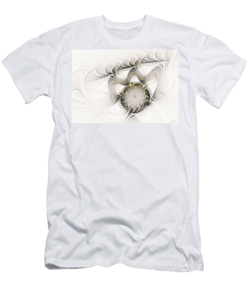 Digital Men's T-Shirt (Athletic Fit) featuring the digital art Ruffled Flower by Deborah Benoit