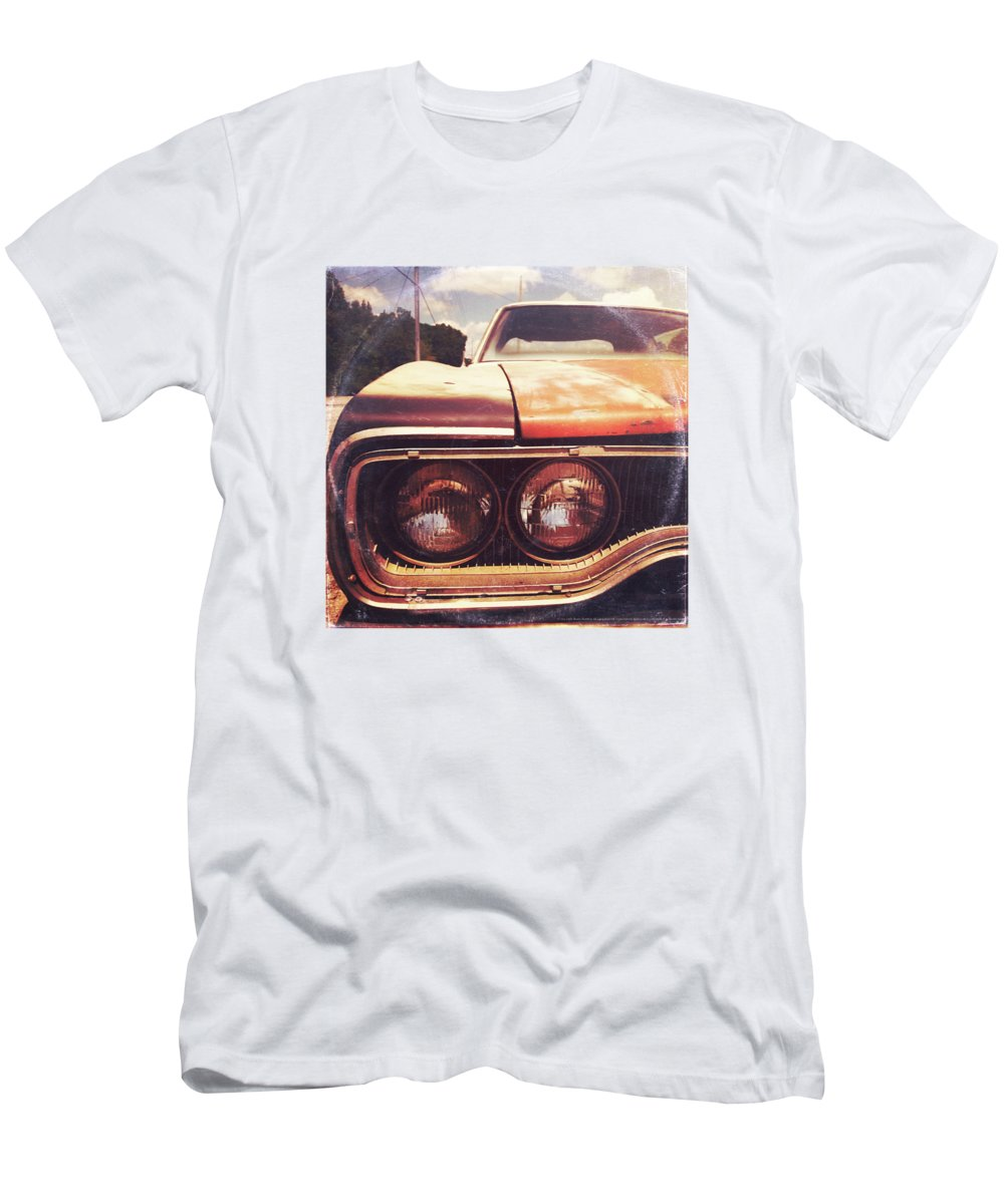 Landscape T-Shirt featuring the photograph Rusty And Blue - America As Album Art by Little Bunny Sunshine