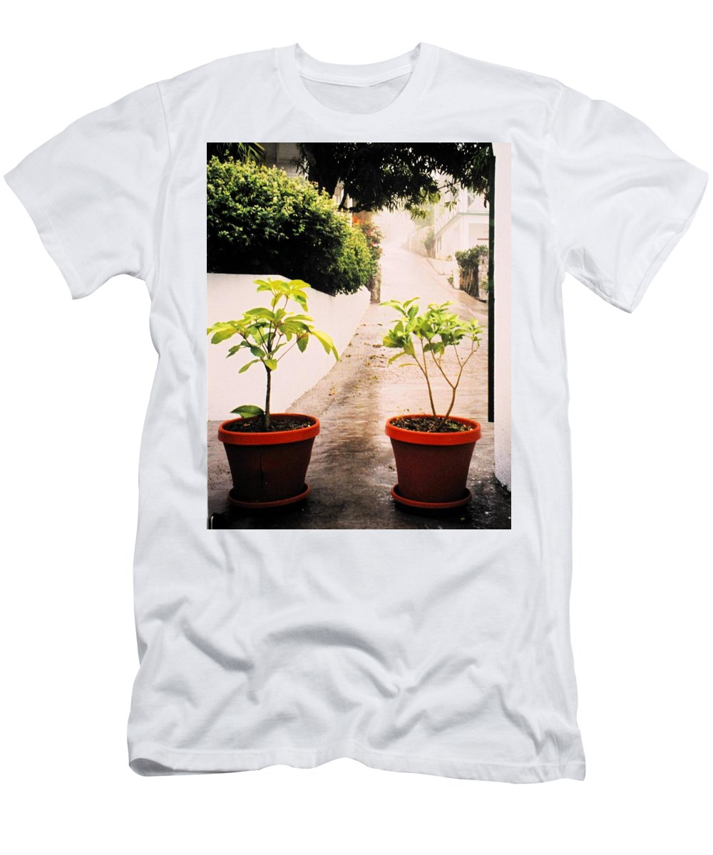Saba Men's T-Shirt (Athletic Fit) featuring the photograph Saba by Ian MacDonald