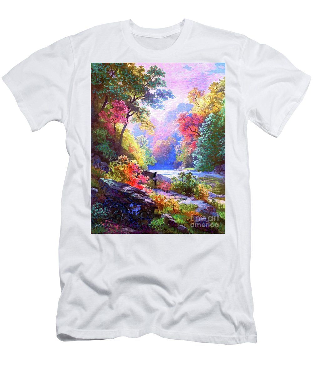Meditation T-Shirt featuring the painting Sacred Landscape Meditation by Jane Small