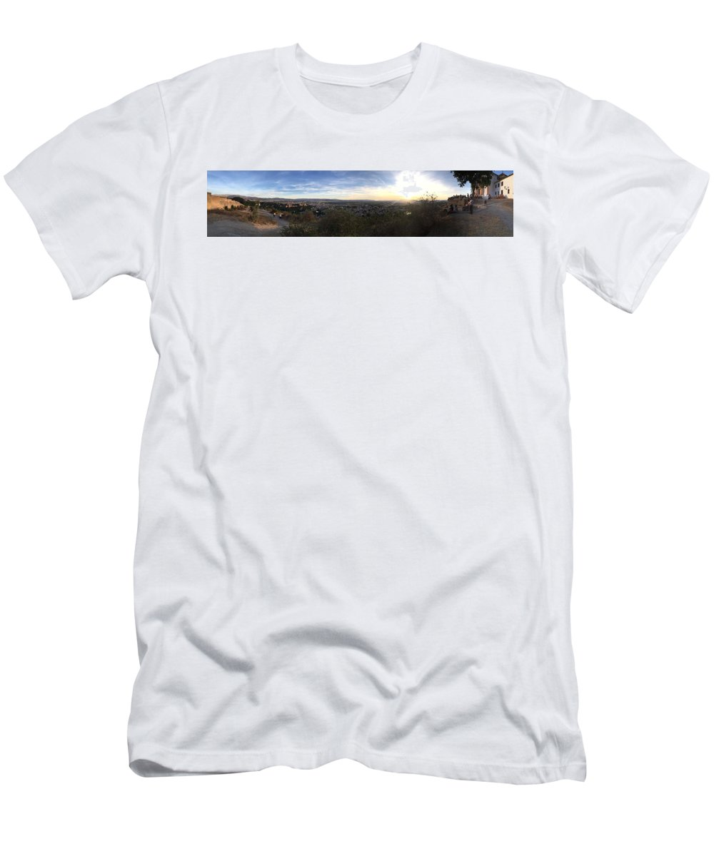 Photos Men's T-Shirt (Athletic Fit) featuring the photograph Sacromonte by Alex Favela