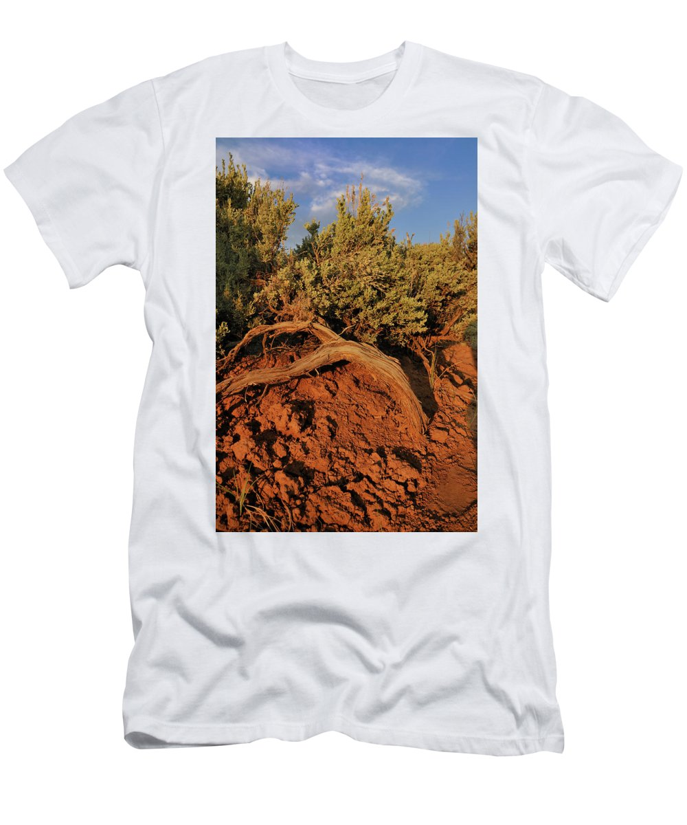 Landscape Men's T-Shirt (Athletic Fit) featuring the photograph Sagebrush At Sunset by Ron Cline