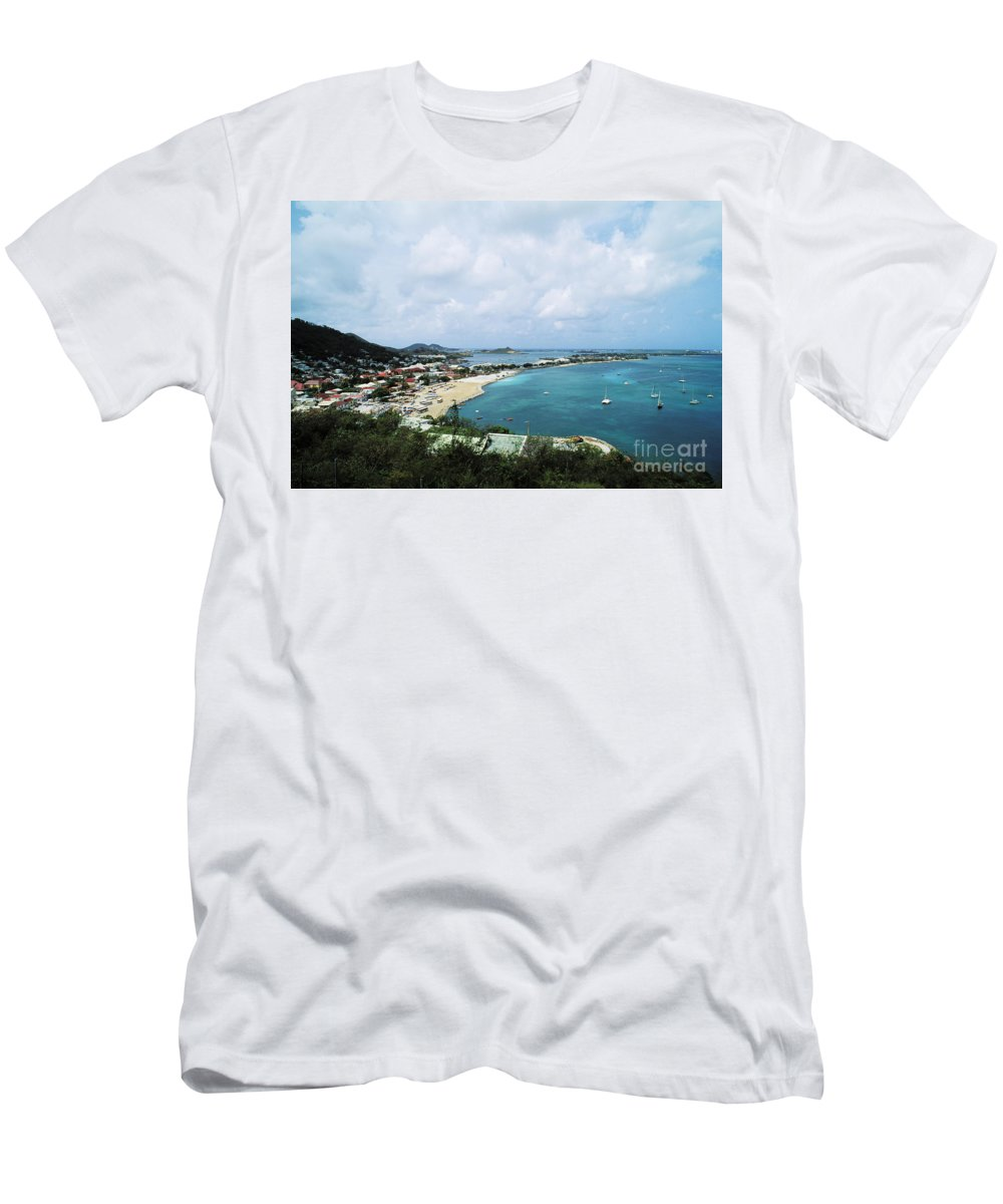 Beach Art Men's T-Shirt (Athletic Fit) featuring the photograph Saint Martin Coast by Bill Bachmann - Printscapes