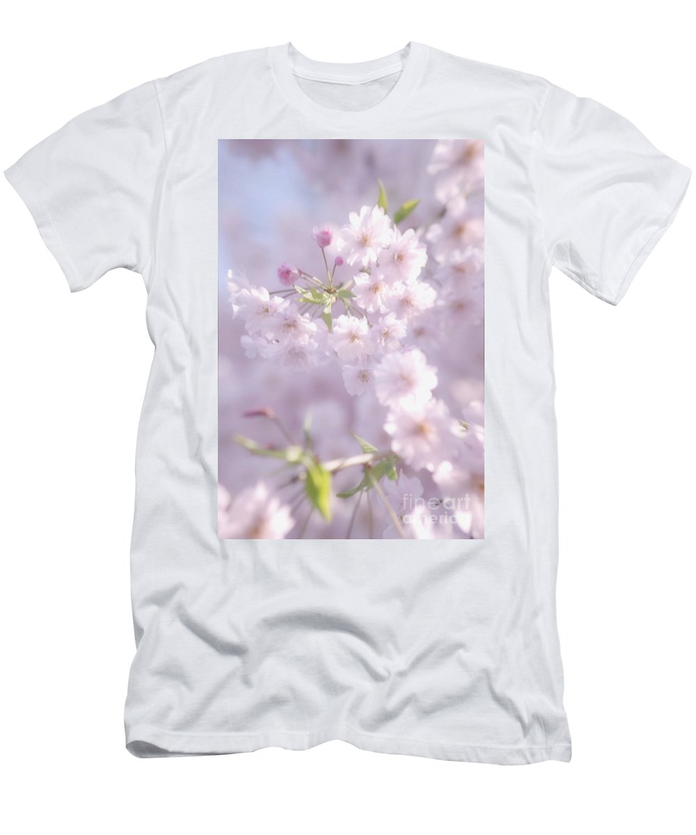 Cherry Blossoms Men's T-Shirt (Athletic Fit) featuring the photograph Sakura Trees by Luv Photography