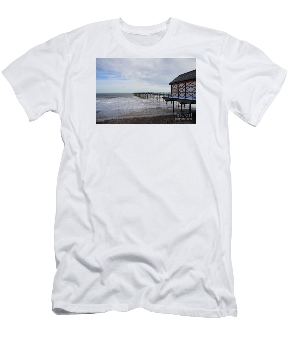 Saltburn On Sea Men's T-Shirt (Athletic Fit) featuring the photograph Saltburn On Sea by Smart Aviation
