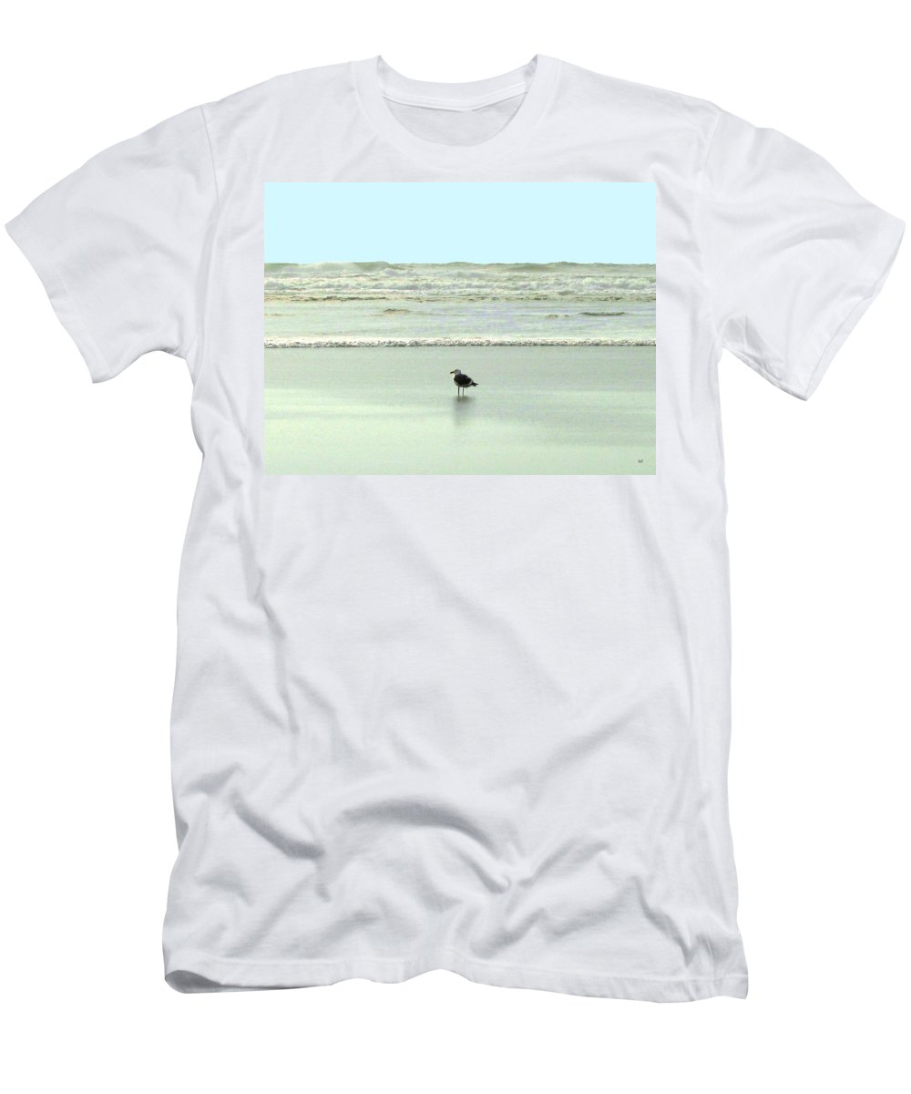 Sand And Sea Men's T-Shirt (Athletic Fit) featuring the photograph Sand And Sea 8 by Will Borden