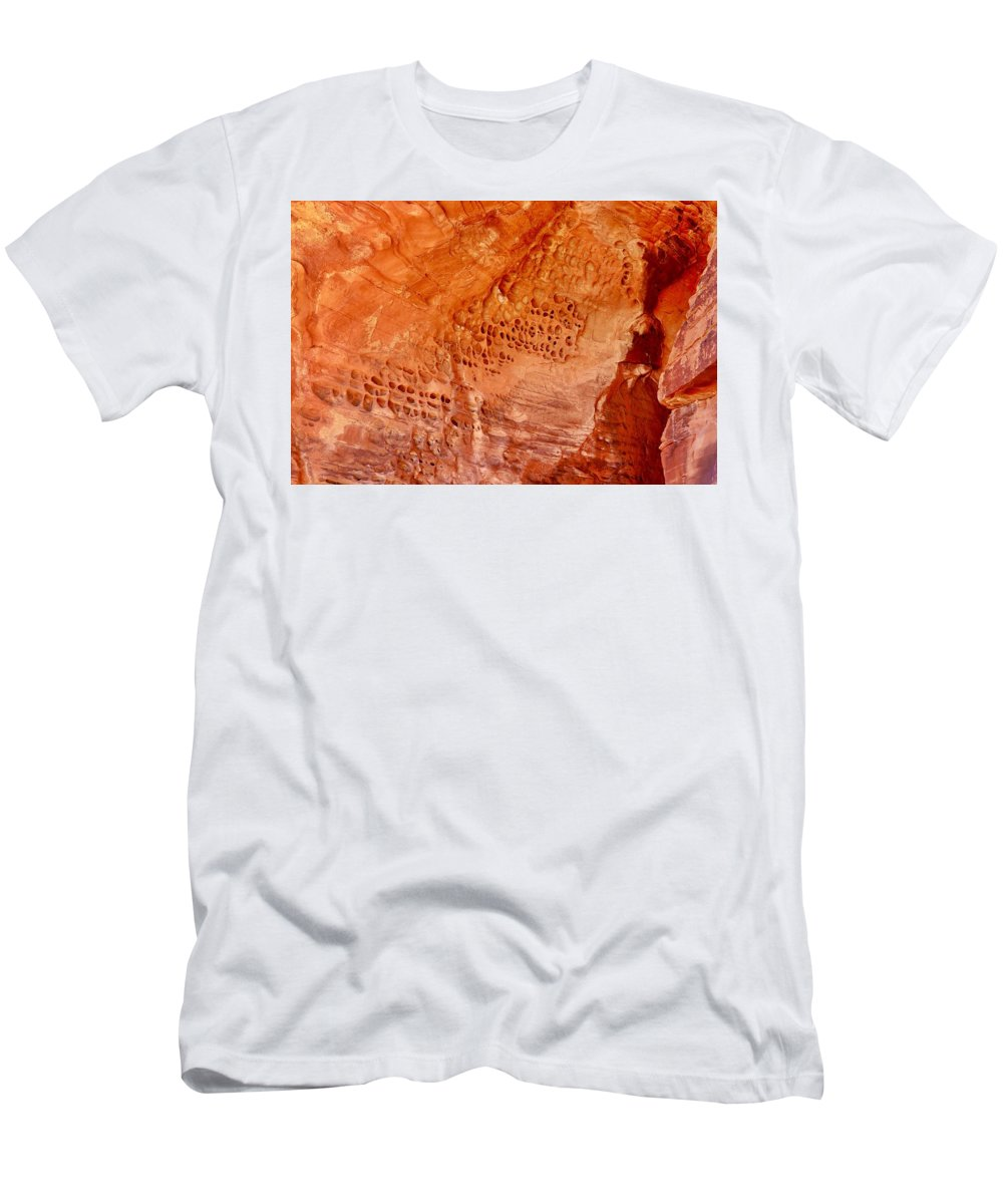 Valley Of Fire State Park Men's T-Shirt (Athletic Fit) featuring the photograph Sandstone by Sagittarius Viking