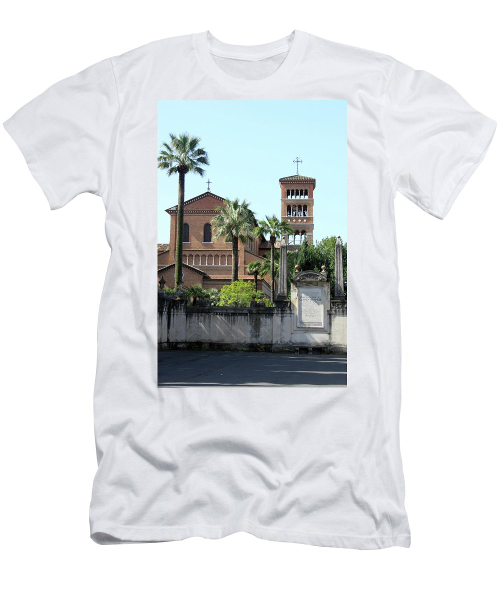 Saint Men's T-Shirt (Athletic Fit) featuring the photograph Sant Anselmo Church by Munir Alawi