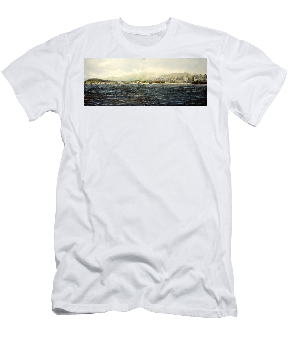 Sardinero T-Shirt featuring the painting Sardinero y Magdalena by Tomas Castano