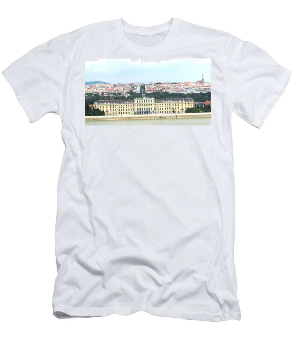 Schonbrunn Men's T-Shirt (Athletic Fit) featuring the photograph Schonbruun Castle by Ian MacDonald