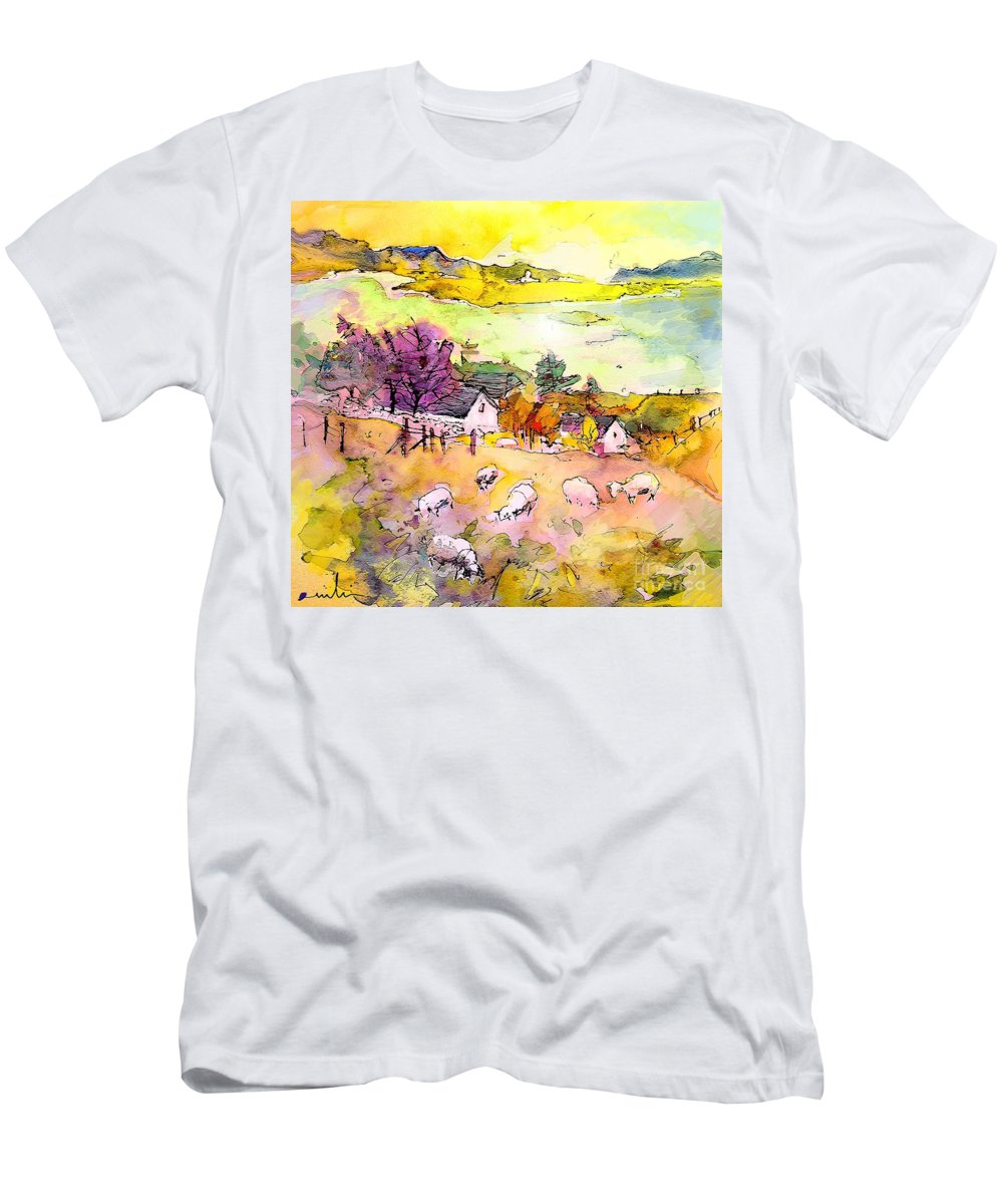 Scotland Men's T-Shirt (Athletic Fit) featuring the painting Scotland 20 by Miki De Goodaboom