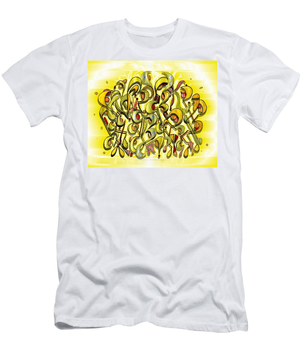 Abstract Men's T-Shirt (Athletic Fit) featuring the digital art Scythe Bush by Mark Sellers