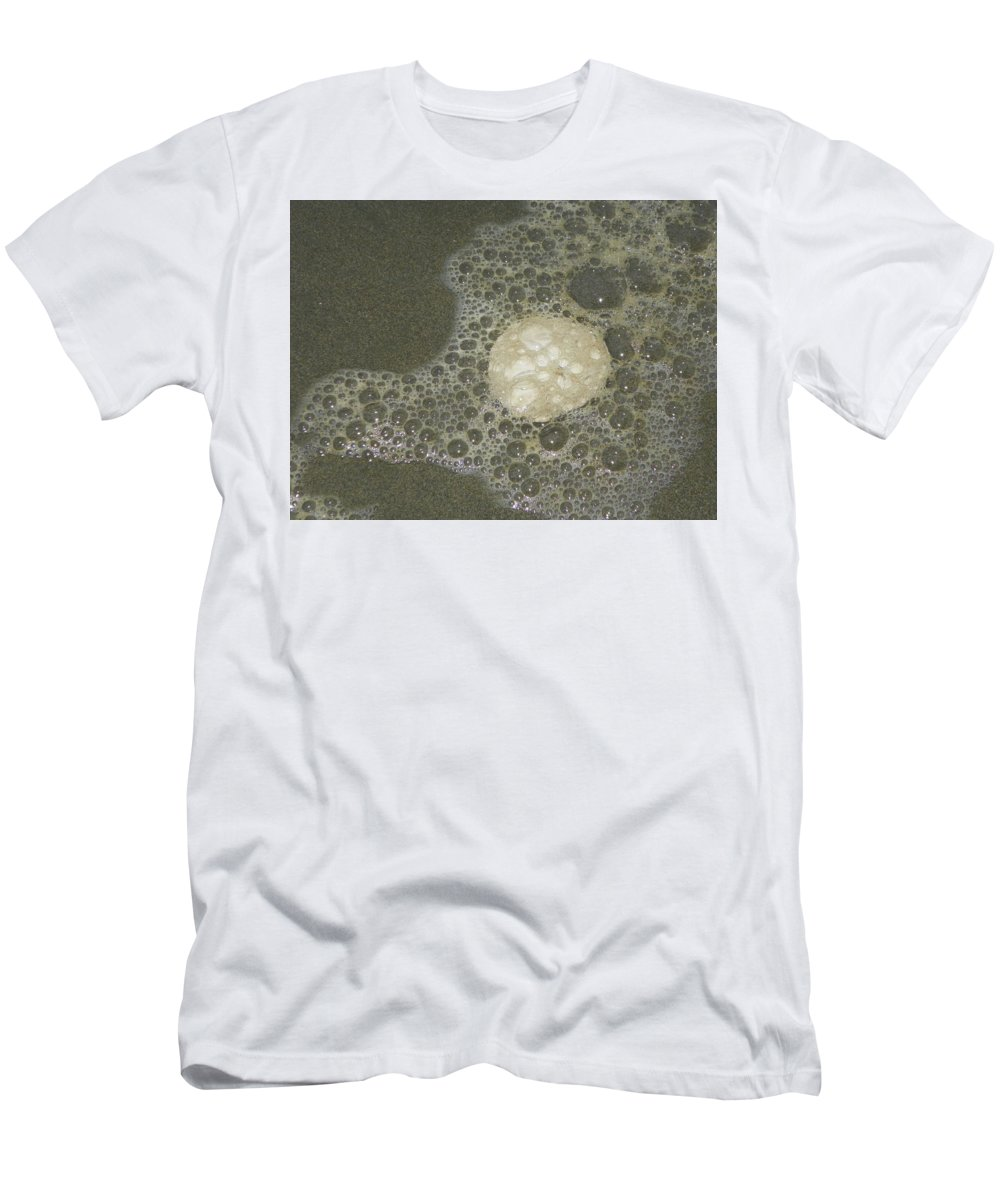 Photography Men's T-Shirt (Athletic Fit) featuring the photograph Sea Foam Over Sand Dollars by Laurie Kidd