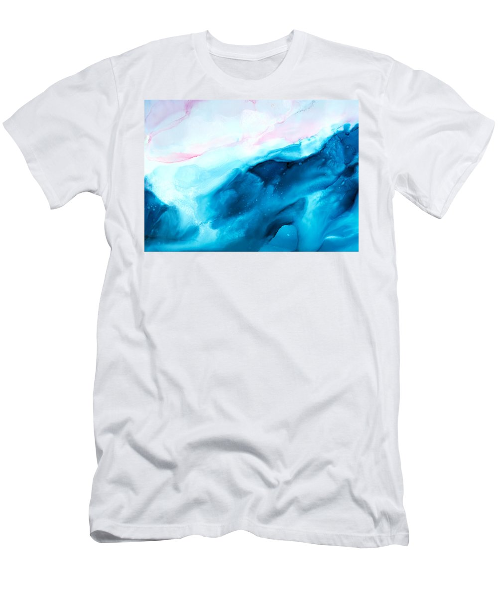 Abstract T-Shirt featuring the painting Sea of Love - A by Sandy Sandy
