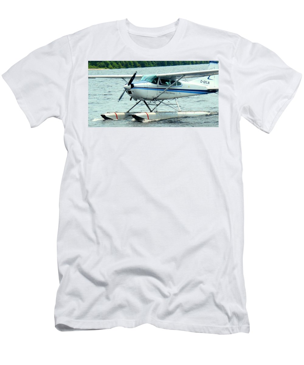 Airplane Men's T-Shirt (Athletic Fit) featuring the photograph Seaplane by Ian MacDonald