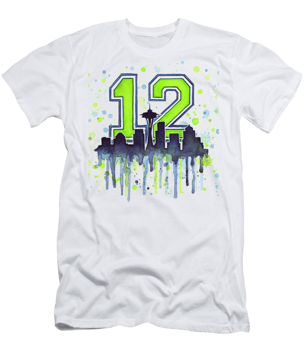Seattle Skyline Slim Fit T-Shirts