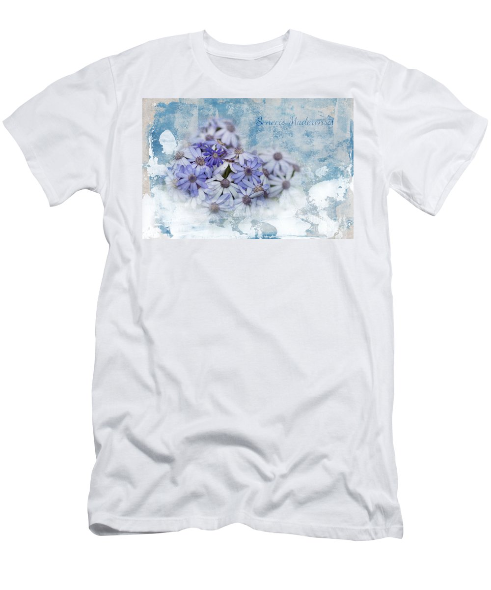 Senecio Maderensis Men's T-Shirt (Athletic Fit) featuring the mixed media Senecio Maderensis by Eva Lechner